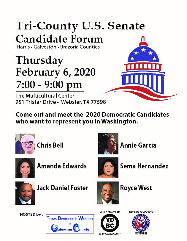 Senate Primary Candiate forum 2020